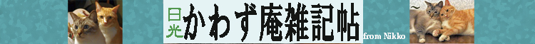 日光かわず庵雑記帖  by たくき よしみつ